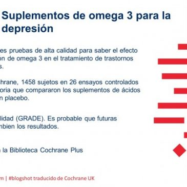 Suplementos de Omega 3 para la depresión (blogshot Cochrane)