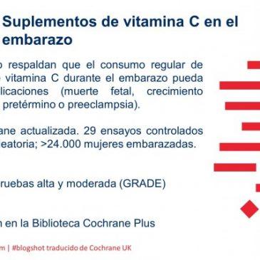 Suplementos de vitamina C en el embarazo (blogshot Cochrane)