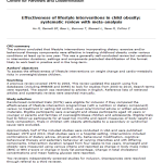 Efectividad de las intervenciones de estilos de vida en la obesidad infantil: revisión sistemática con metaanálisis: lectura crítica DARE
