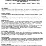 Vitamina D, cognición y demencia: revisión sistemática y meta-análisis: lectura crítica DARE