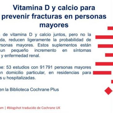 Vitamina D y calcio para prevenir fracturas en personas mayores (blogshot Cochrane).