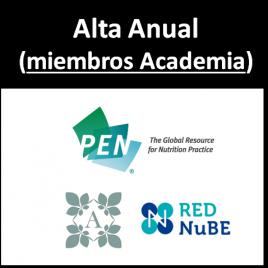 PEN – Practice-based Evidence in Nutrition (miembros de la Academia)