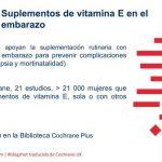 Suplementos de vitamina E en el embarazo (blogshot Cochrane)