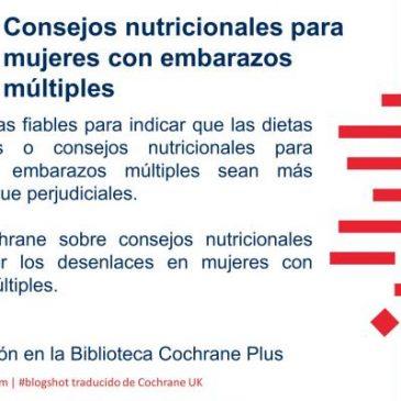 Consejos nutricionales para mujeres con embarazos múltiples (blogshot Cochrane)
