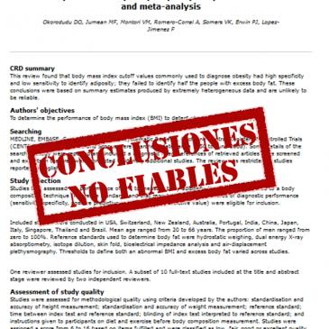 Validez del IMC para el diagnóstico de obesidad definida como adiposidad corporal: una revisión sistemática y un metanálisis – Lectura crítica DARE