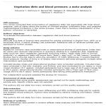 Dietas vegetarianas y presión arterial: metaanálisis – Lectura crítica DARE