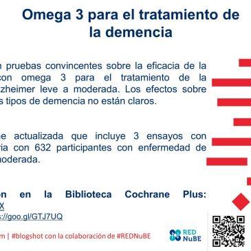 Ácidos grasos omega 3 para el tratamiento de la demencia: blogshot Cochrane