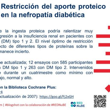 Restricción del aporte proteíco en la nefropatía diabética: blogshot Cochrane