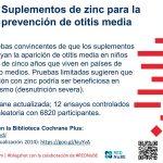 Suplementos de zinc para la prevención de otitis media: blogshot Cochrane