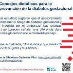Consejos dietéticos para la prevención de la diabetes gestacional