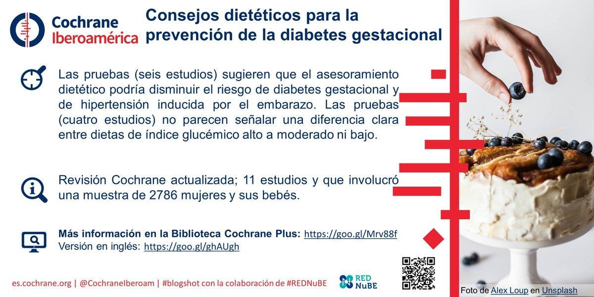 dieta para una mujer con diabetes gestacional