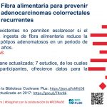 Fibra alimentaria para prevenir adenocarcinomas colorrectales recurrentes