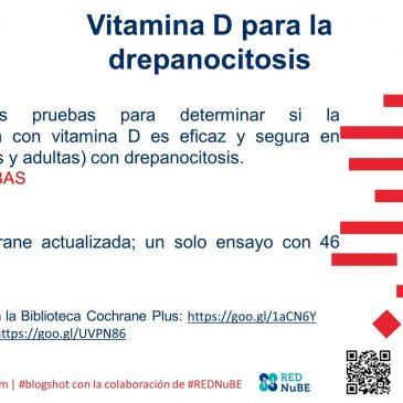 ¿Vitamina D para drepanocitosis?