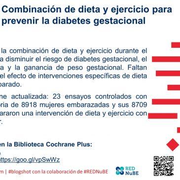 Combinación de dieta y ejercicio para prevenir la diabetes gestacional: blogshot Cochrane