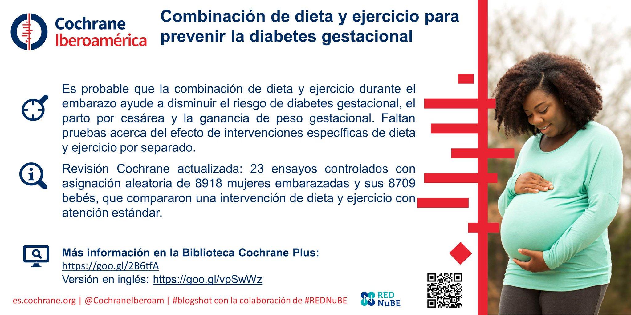 dieta para una mujer embarazada con diabetes gestacional